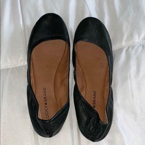 Lucky Brand Black Emmie Ballet Flats Size 8.5